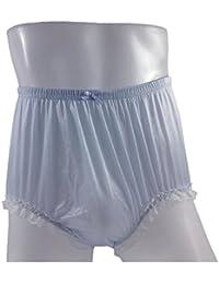 ca6f2bac2db37b NQH02D01 Fair Blue Handmade Style Vintage Knickers Women Panties Hipster Nylon  Underwear…