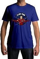 Fully Filmy Elon Man Round Neck Cotton Unisex T-Shirt (TEE-359-BLU-MED)