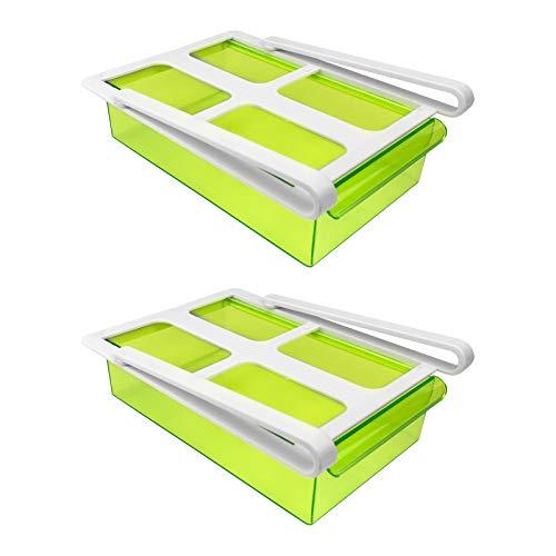 2x Frigorífico Pinza cajón-Transparente Verde