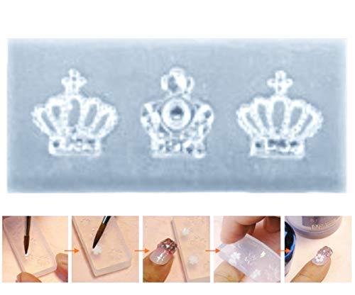 1pc Transparent 3 Royal-Kronen, Queen-Strass-Style-Silikon-3d-Mini-Mold Für Nail-Art-Kleine Diy-Resin-Form Polymer Clay -