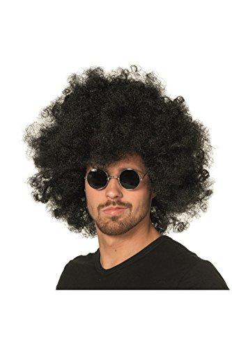Hippie-Brille John Lennon kleine runde Gläser Flower Power Woodstock 70s Einheitsgröße Schwarz