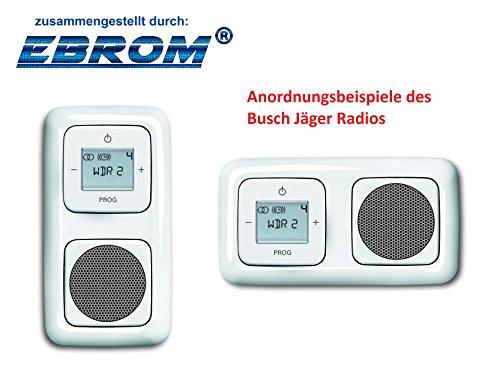 Preisvergleich Produktbild Busch Jäger Unterputz UP Digitalradio (8215U) alpinweiß Komplett-Set Reflex SI Lautsprecher + Radioeinheit + Abdeckungen in 2 fach Rahmen integriert