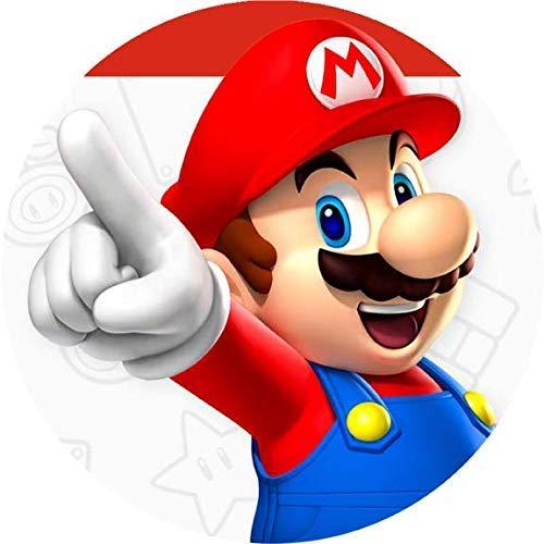 Tortenaufleger Super Mario1 mit Wunschtext / 20 cm Ø/Lieferung 2 bis 5 Werktage