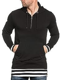 BLZ jeans - Sweat homme noir oversize à capuche