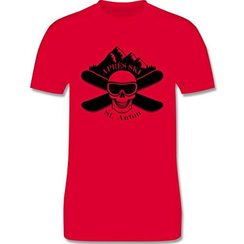 Après Ski - Apres Ski St Anton Totenkopf - Herren Premium T-Shirt Rot
