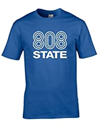 Naughtees clothing - 808 State logo t-shirt. For those about to Rave, we salute you.
