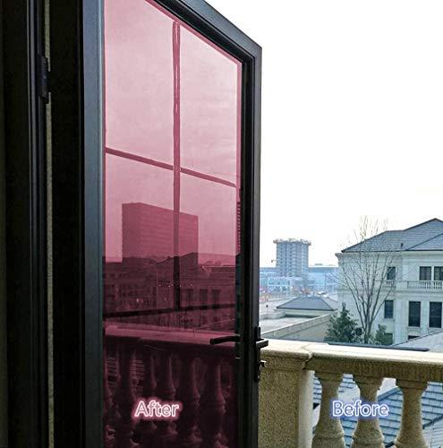 S`good Pellicola 70/80/90 * 500 Cm per Finestra a Una Via, Vetro Riflettente per vetri oscurati Tint - Protezione Solare per vetri antiriflesso Anti UV, 80 x 500 cm