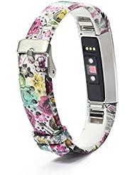 Fitbit Alta/Fitbit Alta HR Correa de repuesto de varios colores, accesorios con patrones creativos y protector de pantalla., color 5