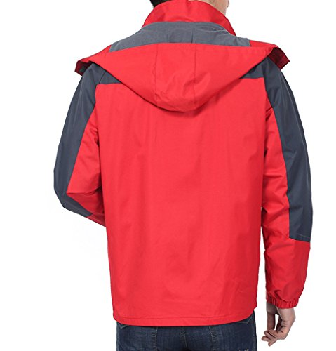 Cystyle Regenjacke Herren Wasserdicht Atmungsaktiv Oberbekleidung-Jackenmänner Rote