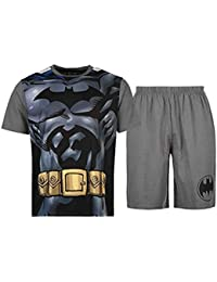 DC Comics - Ensemble de pyjama - Homme noir Black/Grey/Printed M