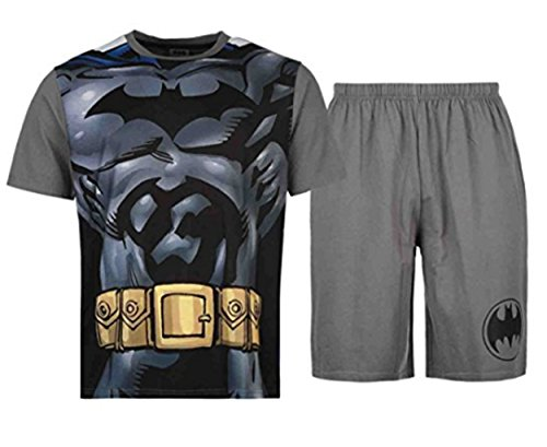 batman-mens-pyjama-set-top-shorts-dc-comics-m