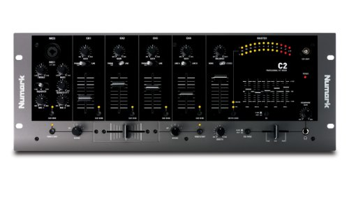 Numark C2 Vierkanal-Rack Mount DJ-Mixer mit 5 Band EQ Numark Dj Mixer