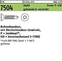 500 Bohrschrauben DIN 7504 Stahl P 4,2 x 50 TX 20 verzinkt SEKO