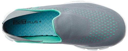 Skechers - Go Walk 3domination, Scarpe da ginnastica Donna Grigio (Grigio (CCAQ))