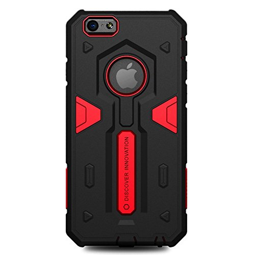 iPHONE 6 / 6S - DEFENDER CASE STRONG [ROT] - OUTDOOR HYBRID BUMPER - Cover, Hülle, Rahmen, Skin - powered by i-tecfox rot