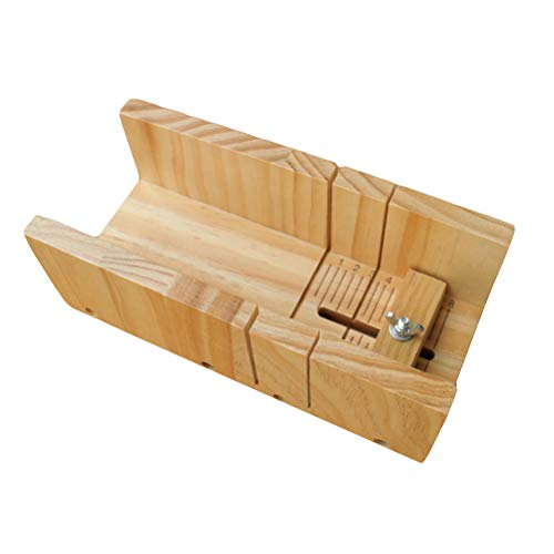 SUPVOX Wood Soap Loaf Cutter Mold Premium Adjustable Cutter Mold Box Soap Making Tool (Wood Color)