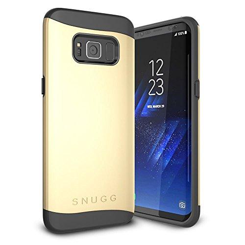 Funda Galaxy S8 Plus, Snugg Samsung Galaxy S8 Plus Case Slim Carcasa de Doble Capa [Infinity Series] Revestimiento con Protección Anti-Golpes - Oro