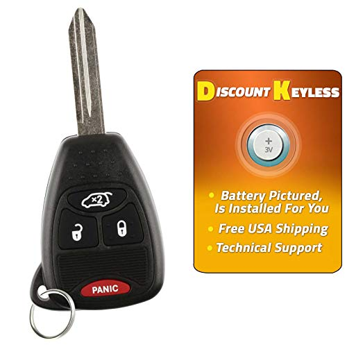 Price comparison product image Discount Keyless Replacement Uncut Trunk Car Remote Fob Key Combo Compatible with OHT692713AA,  OHT692427AA,  KOBDT04A by Discount Keyless