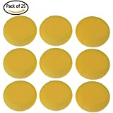 BESTIM INCUK 25 Pack Synthetic Artist Paint Sponges Round Watercolor Sponges for Painting, Craft, Ceramics, Pottery, Wall, Yellow
