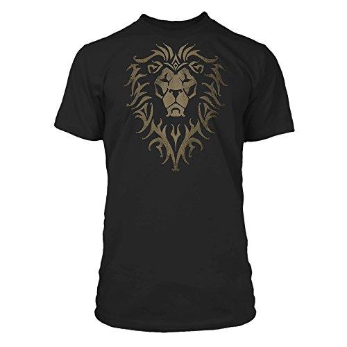 Warcraft - T-Shirt tratta dal film con motivo Alliance e stampa sulla nuca - Cotone nero - L