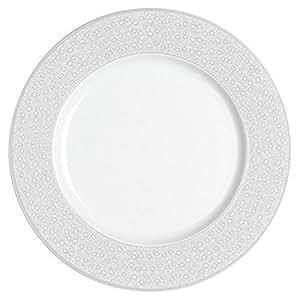 Guy Degrenne 200200 Bohème Lot de 6 Assiettes Dessert Porcelaine Gris 21,1 x 21,1 x 1,5 cm