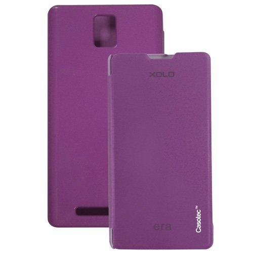 Casotec Premium Flip Case Cover for XOLO Era - Purple