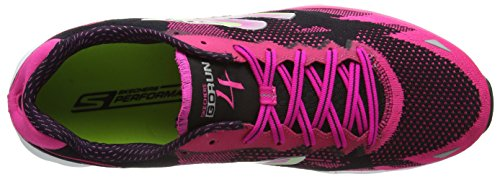 Skechers Go Run 4, Chaussures de Running Compétition femme Black (Bkhp)