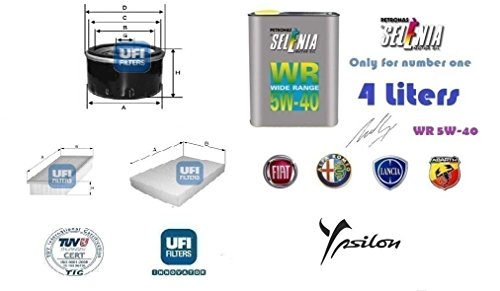 kit-filtri-tagliando-ufi-lancia-ypsilon-12-8v-44-kw-4-litri-oil-selenia-5w40