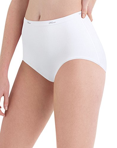 Hanes Women`s 10-Pack Cotton White Briefs