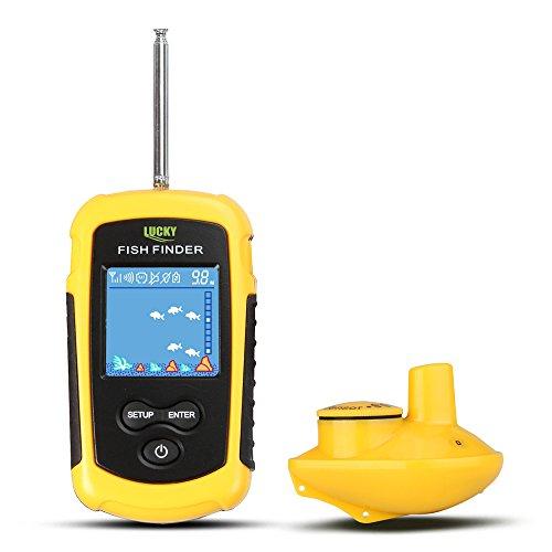 MKNzone 1 pc FFW1108-1 Portable Wireless Echolot Sonar Sensor Tiefenmesser, praktische Angelgeräte Zubehör Fishfinder Frequenz-sonar-fishfinder
