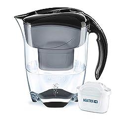 BRITA Wasserfilter Elemaris XL schwarz, inkl. 1 MAXTRA+ Filterkartusche - großer Wasser-Genuss durch die zuverlässige Reduzierung von Kalk und Chlor im Leitungswasser
