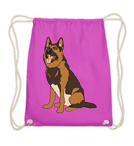Shirtee Hochwertige Baumwoll Gymsac - Deutscher Schäferhund - Hund Rasse Haustier Hundetrainer Hundeliebhaber Hunderasse Deutsch