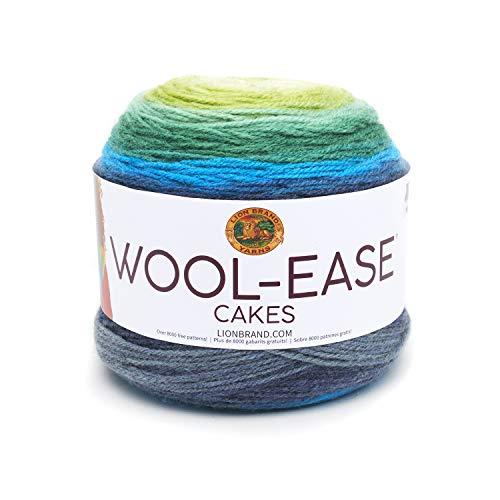 Lion Brand Yarn 621-202 Wool-Ease Cakes Garn, acryl, Poseidon, One skein -