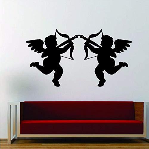 Wandaufkleber Aufkleber Vinyl Interior Design Liebes Engel Weihnachten Cupid 31 * 57Cm Zxfcczxf