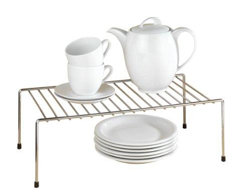 WENKO 2342100 Estante de cocina para vajilla, Metal cromado, 42.5 x 15...