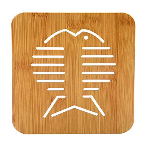Chen Rui Tapis de Pot Antidérapant Thé Coaster Dessous de Verre Support de Pot Tapis Isolant Tapis de Protection Cuisine (b)