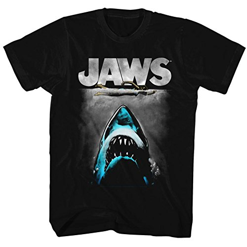 Jaws - Herren-Lichtenstein-T-Shirt Black