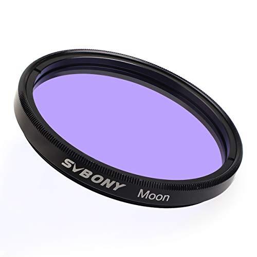 Svbony Moon Filter Teleskop Okular Filter für Standard 5,1cm Fiilter Gewinde mit Metall Rahmen Optisches Glas für Beobachtung von Mond und Planeten (Moon Filter)