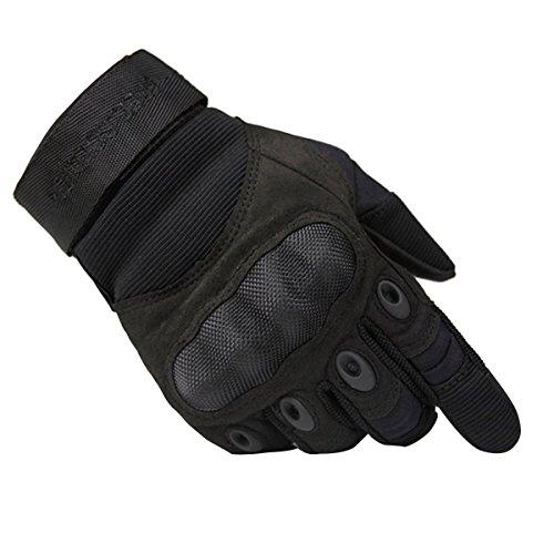 FREE SOLDIER Outdoor Taktische Handschuhe Herren Schweissabsonderung verschleißfeste Taktische Handschuhe(L, Schwarz)