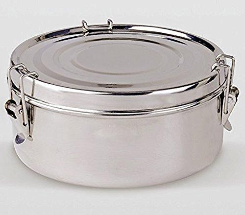 LS Kitchen Fiambrera 2 Platos - Acero Inoxidable - 16 cm - Plata