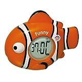 Mebby Funny Fish Thermoclock stanza da bagno e termometro