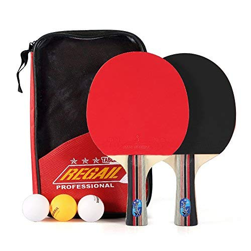 Tischtennisset Mit 2 Stk Pappel Tischtennisschläger, 3 Tischtennisbälle Und Einer Tragetasche Für Tischtennisspieler