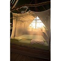 noorsk - Mosquitera para cama doble (200 x 200 cm, forma cuadrada) blanco