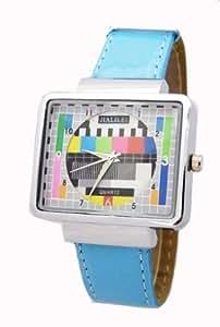 total verr ckte armbanduhr in blau b485 uhren. Black Bedroom Furniture Sets. Home Design Ideas