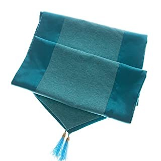 Avarada Elegant Table Runners Blue Teal Aqua For Home Decorative Coffee Table Bed Runners Sofa 13 x 63 Inches (33x160cm) Slik look Blend Polyester Table Runner