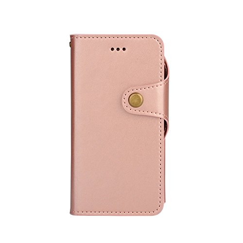 Cover per iPhone 5 Card Slots,Custodia per iPhone 5S ,Bonice Premium Multifunzionale Pelle Portafoglio Staccabile Detachable Removable Folio Zipper Protettivo Case Multiplo Extra Slot per Carte Conser PU-Leather-Cover-6