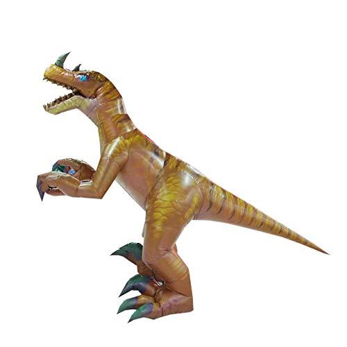 bares Tyrannosaurus-Kostüm Velociraptor Dinosaurier Erwachsene Halloween Rollenspiel-Spiel Verkleidung Cosplay Kleidung - gelb - Large ()