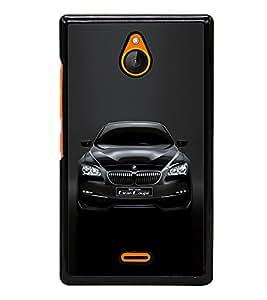 Luxury Black Car 2D Hard Polycarbonate Designer Back Case Cover for Nokia X2 Dual SIM :: Nokia X2 RM-1013 :: Nokia X2DS
