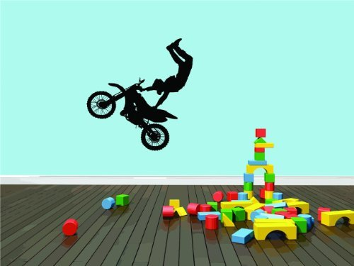 Daycare Classic Dirt Bike Trick Boy Girl Kinder Bild Graphic Design Wandbild Vinyl Wall Peel & Stick Transferaufkleber Farbe 544 Größe: 101,6 x 101,6 cm - 22 Farben erhältlich - Dirt Bike Gold