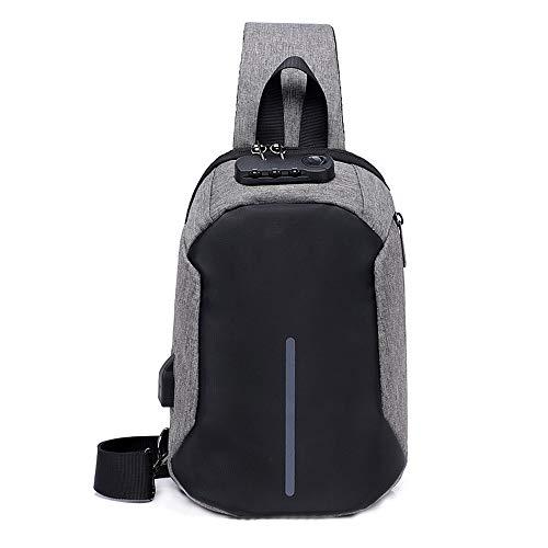 Lis-shan Anti-Theft Sling Chest Bag Handtasche für Männer wasserdichte Umhängetasche Reiseschultertasche Fit für 9,7